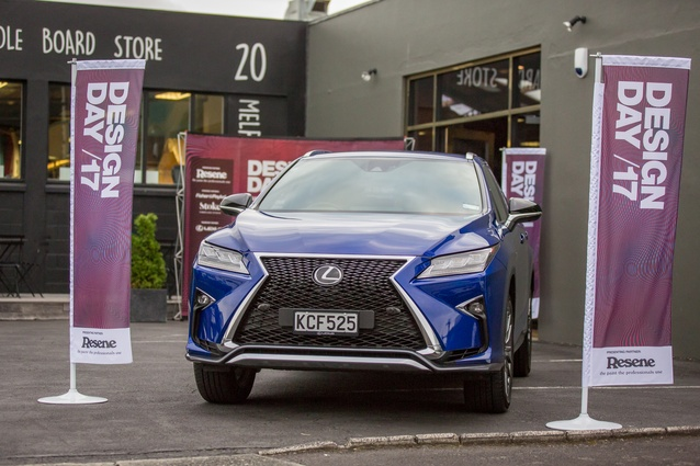 Designday Transport Partner Lexus displayed the striking new RX350 Fsport.