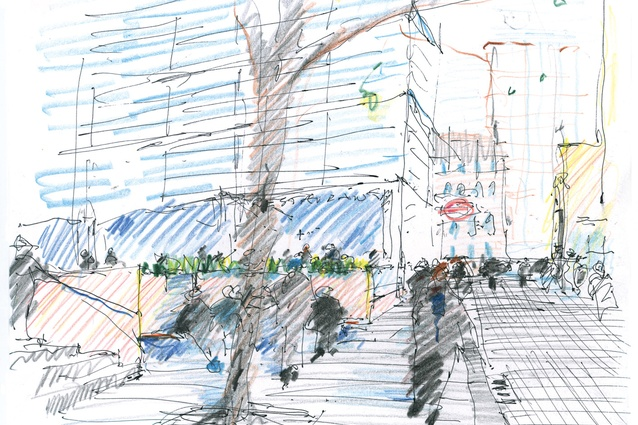 A drawing from <em>Drawing for  Landscape Architecture: Sketch to Screen to Site</em>.