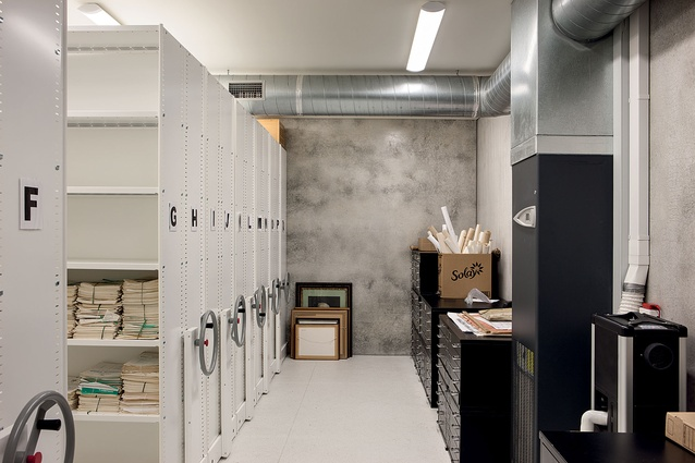 The storage room has a controlled climate to protect precious records.