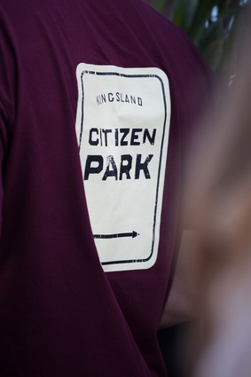 The staff t-shirts for Kingsland's newest bar and eatery, Citizen Park.