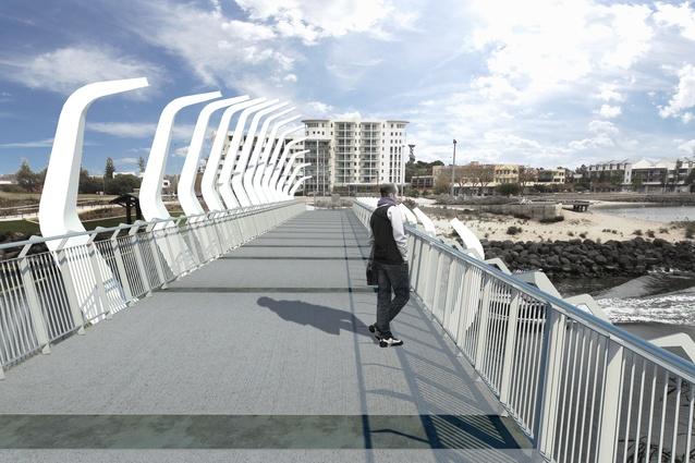 The Koombana Bay pedestrian bridge by Gresley Abas Architects.