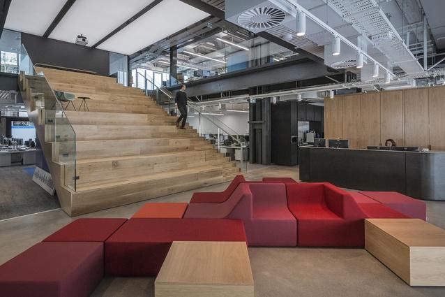Interior Architecture winner: Warren and Mahoney Auckland Studio, Wynyard Quarter by Warren & Mahoney Architects.