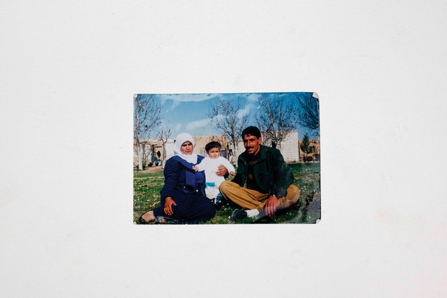 Memories from home: a family photo of a Kurdish man from Syria. His father died in the war.