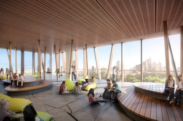 A terrace in the proposed Inner Sydney High School by FJMT.