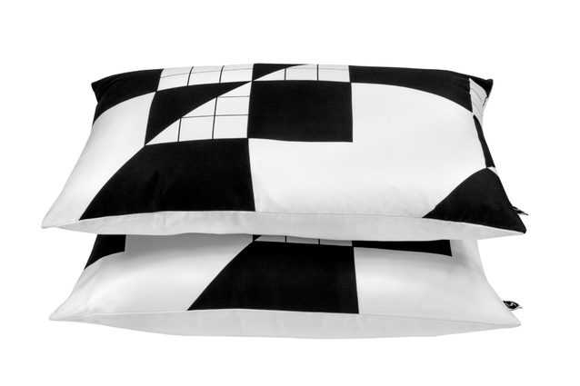 Design Ministry pillowcases in Cross Grid print.