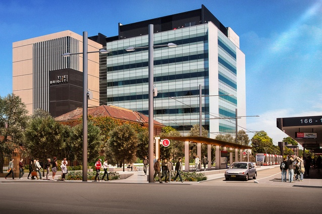 Design of the Sydney CBD and South East Light Rail stop at UNSW by Grimshaw Architects.