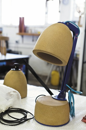 A Wiid Design table lamp made from cork.