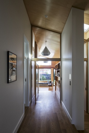 Point Chevalier bungalow renovation. This light-filled extension to a modest Auckland villa won a 2015 Auckland Architecture Award in the Housing – Alts and Adds category.