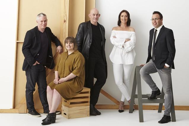 The 2017 Interior Awards judges. From left: Dean Mackenzie, Toni Brandso, Bill McKay, Lauren Hare and Federico Monsalve.