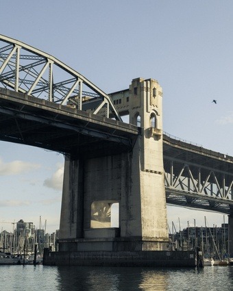 The Burrard Street bridge.