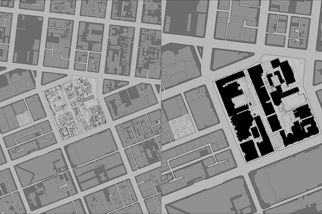 Plan of RMIT University in Episodic Urbanism: RMIT Urban Spaces Project 1996–2015, published by Uro Publications, 2015.