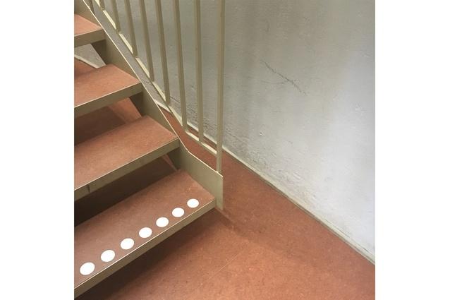 Stair detail inside Stadsbibliotek.