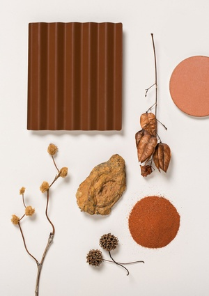 Terrain – a rich, earthy, red/brown inspired by inland Australia.