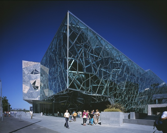 One of Donald Bates's projects – Federation Square.