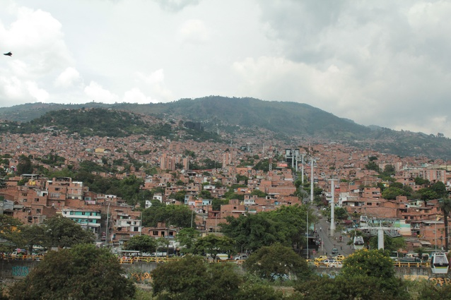 The Santo Domingo cable car in Medellín, Colombia.