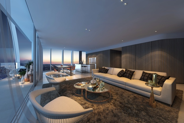 The penthouse apartment.