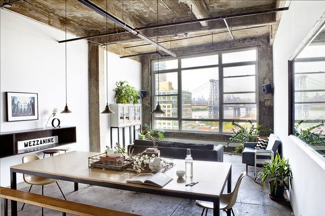 A creative director's loft in New York is available through Behomm.