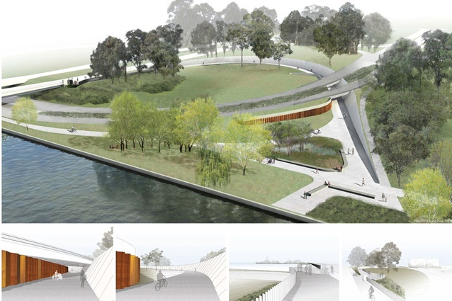 Renders of the new Bowen Place underpass.