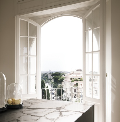 The designers used the Eternal City as their main inspiration for this apartment's interior.