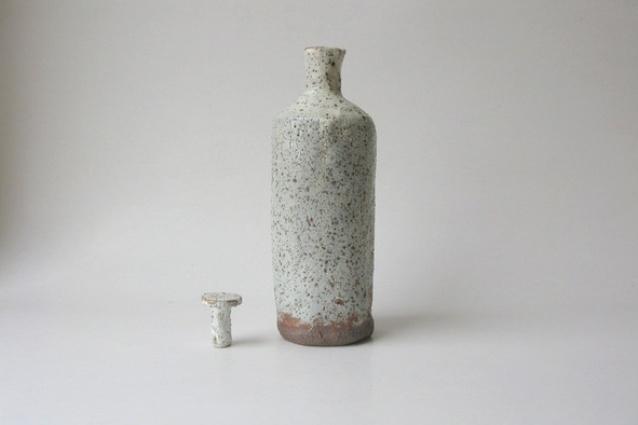 Shino Bottle by Slab and Slub.