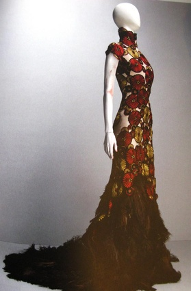 The McQueen dress that inspired the Flowerbrella rug.