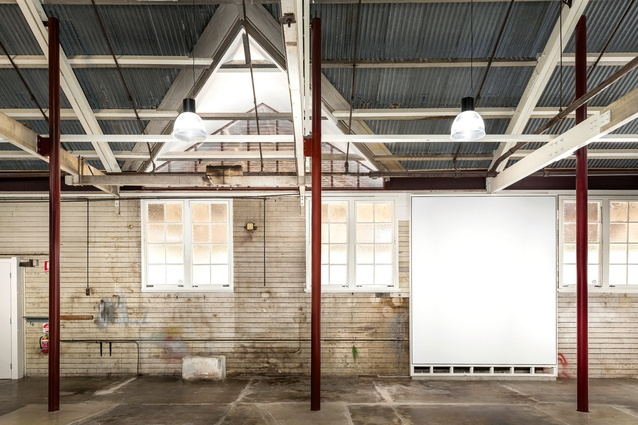 Many of the intrusive renovation works were executed from the outside which meant that the exposed roofing iron, original marked walls and stained concrete floors were able to be retained in the interior.