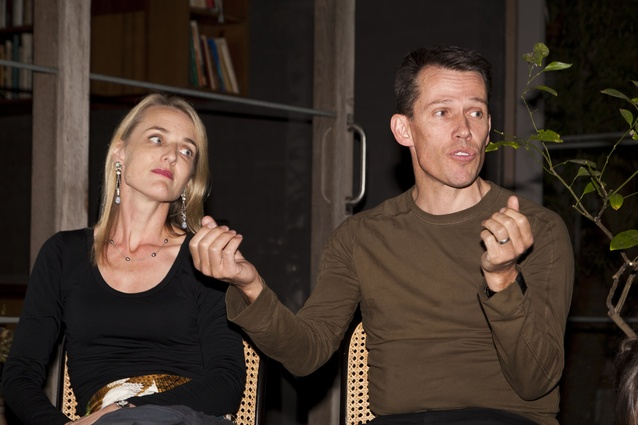 Jo Nolan and Luke Hastings talk about the Castlecrag House.