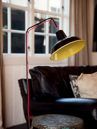 Lamp: It is from Viaduct furniture in east London, by designer Bernard Schottlander. Craig tempted fate by checking it through as personal luggage on his way back to New Zealand.