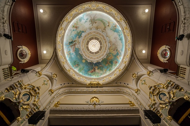 Winner: Craftsmanship Award — Conservation of the painted dome ceiling in the Isaac Theatre Royal by Studio Carolina Izzo.