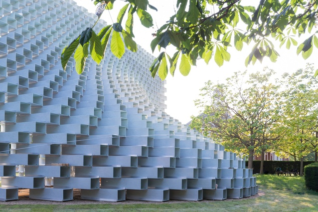 Serpentine Pavilion 2016 designed by Bjarke Ingels Group (BIG). The pavilion will be open to the public from 10 June till 9 October.