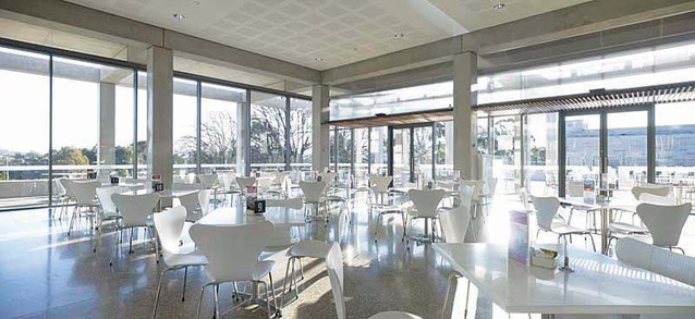 Australian War Memorial Eastern Precinct Cafe by Johnson Pilton Walker.