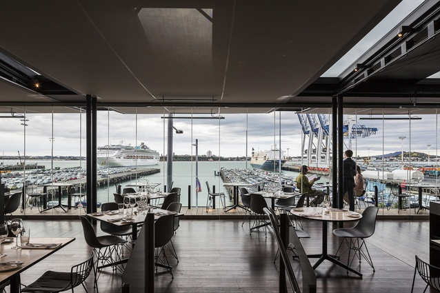 Ostro Brasserie & Bar, a New Zealand take on the brasserie, with a menu designed by Josh Emett and architecture by Fearon Hay Architects.