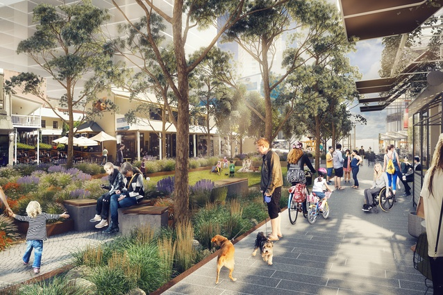 The draft Parramatta Civic Link Urban Park by Aspect Studios and SJB.