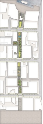 The draft Parramatta Civic Link masterplan by Aspect Studios and SJB.
