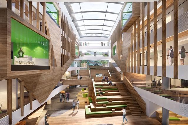Cox designinc tcl design sa 39 s first vertical school for Cox architecture