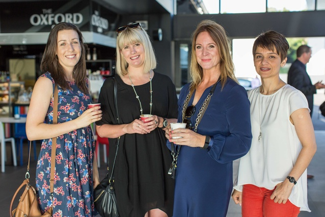 Left to right: Beth Richmond (Artisan Flooring), Catie Wilkinson (James Dunlop Textiles), Celia (James Dunlop Textiles).