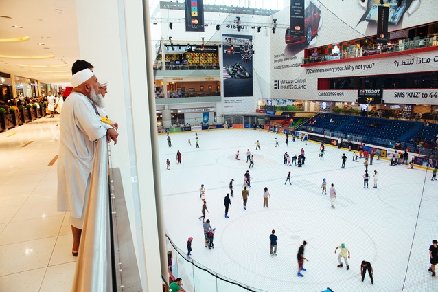 Ice rink inside the Dubai Mall.