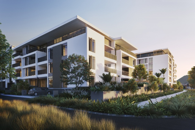 Render of the proposed Market Cove apartments.