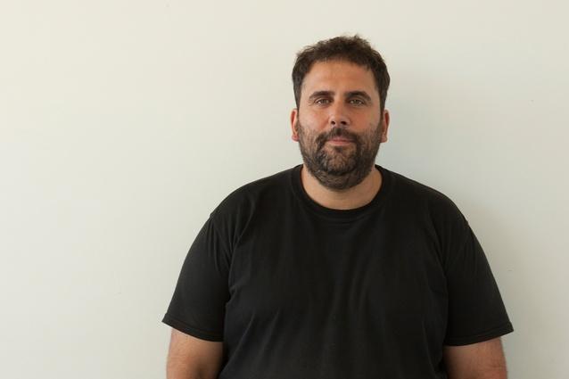 Sebastián Adamo in his atelier Adamo Faiden which he shares with business partner Marcelo Faiden.