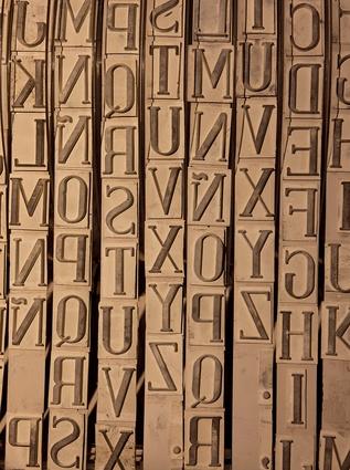 Wall art and alphabet machine by Eduardo at MALBA.