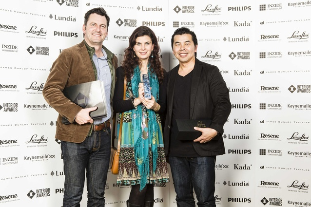 L to R: Clark Pritchard, Erini Compton and Jef Wong of Designworks – Workplace Award winners.