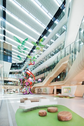 The atrium inside The Royal Children's Hospital.