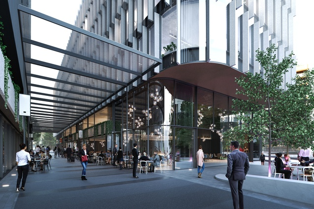 The proposed Constitution Place development will feature a laneway connecting the neighbouring Canberra Theatre to Constitution avenue.