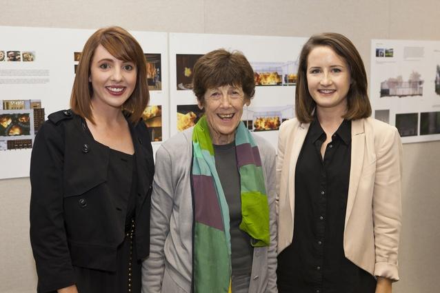 Winners Anna Hobbs and Amanda Gore with Nanette Cameron.