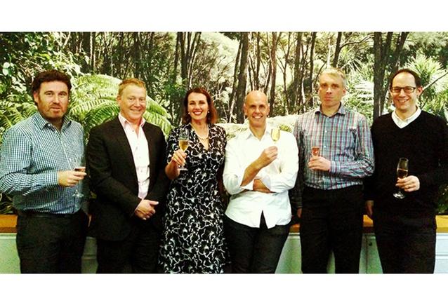 From left: Scott Cracknell, Stephen Voyle, Lisa Hinton, Michael Davies, Andrew Burton, Jonathan Gibb.