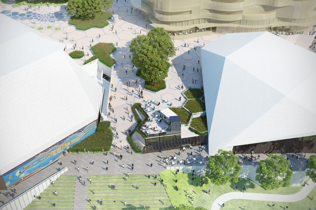 New visions for adelaide festival plaza architectureau for Outer space landscape architects adelaide