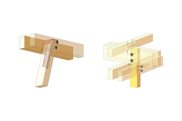 Column-to-beam joints.