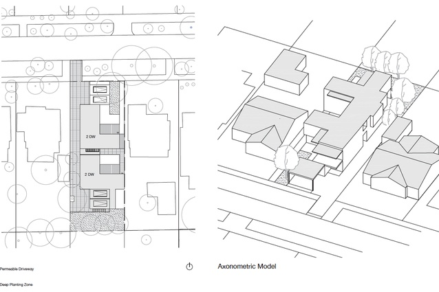 Modelling for maisonette-style dwellings by Bernard Seebar Architects.