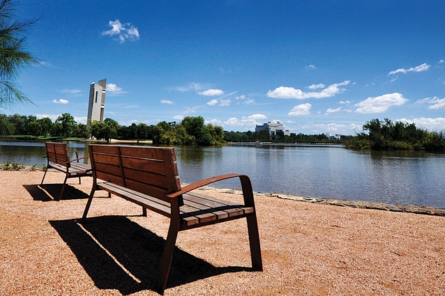 Canberra Central Parklands: A number of breakout spaces help to bring the city's attention back to the lake.
