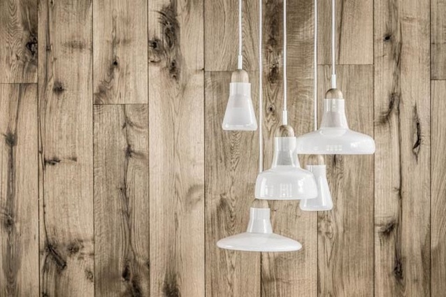 Shadow Pendants by Dan Yeffet and Lucie Koldova, in opaque white.
